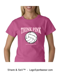 Women's Think Pink T-Shirt Design Zoom